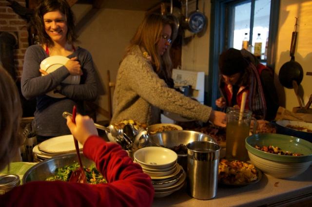 NFU Youth potluck at Waldegrave Farm, NS